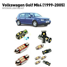Led interior lights For volkswagen golf mk4 1999-2005  11pc Led Lights For Cars lighting kit automotive bulbs Canbus