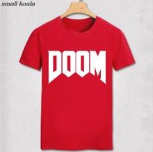 Letnia nowa marka moda Doom T-shirt-cały czas świetna gra wideo nieoficjalna w męskiej 100 bawełnianej koszulce męskiej tanie tanio Krótki COTTON O-neck normal Stałe Dzianiny Topy Tees Vhorz Na co dzień