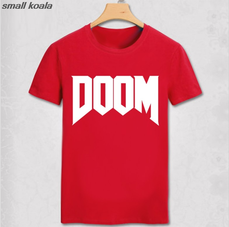 summer new brand fashion Doom T-shirt - All Time Great Video Game Unoffical in Mens 100% Cotton man T Shirt