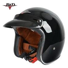 Moto rcycle шлем jet винтажный шлем с открытым лицом Ретро 3/4 полушлем casco moto capacete moto ciclismo