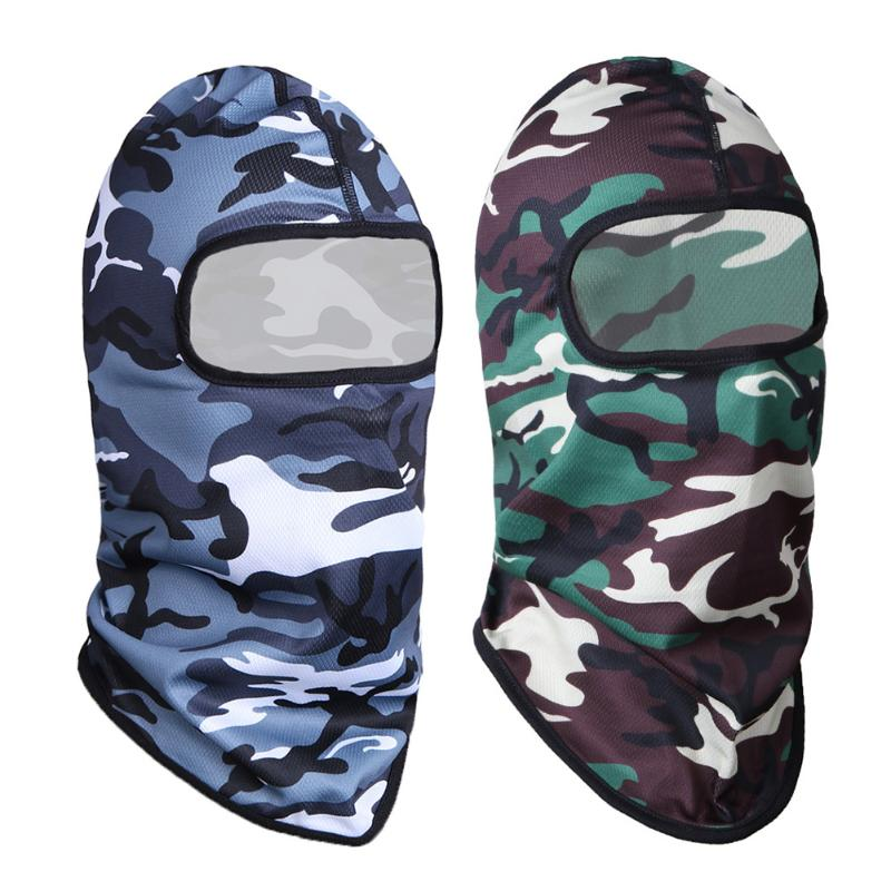 Cycling Full Face Mask Hood Camouflage Caps Winter Windproof Outdoors Warm Hunting Hat Headwear Mask Unisex Bicycle Bike Mask