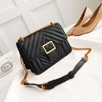 Women handbag fashion Female Square Bag 2019 High Quality PU Leather Designer Handbag Chain Shoulder Messenger Bags Handbag