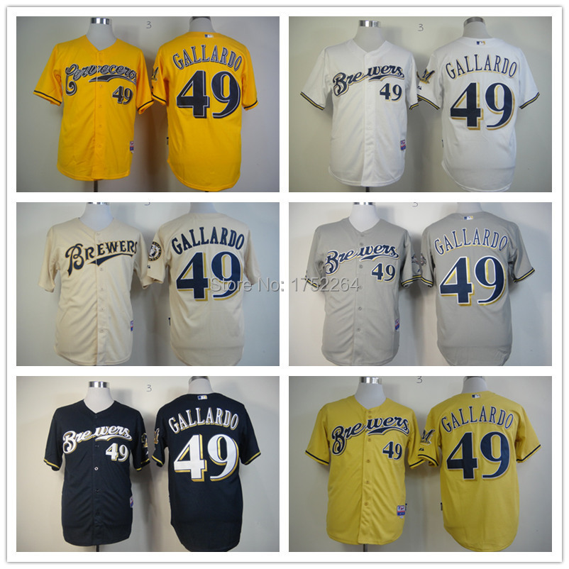 super popular 0a92c 00541 Cheap New Freeshipping Men's 49 Yovani Gallardo Baseball ...