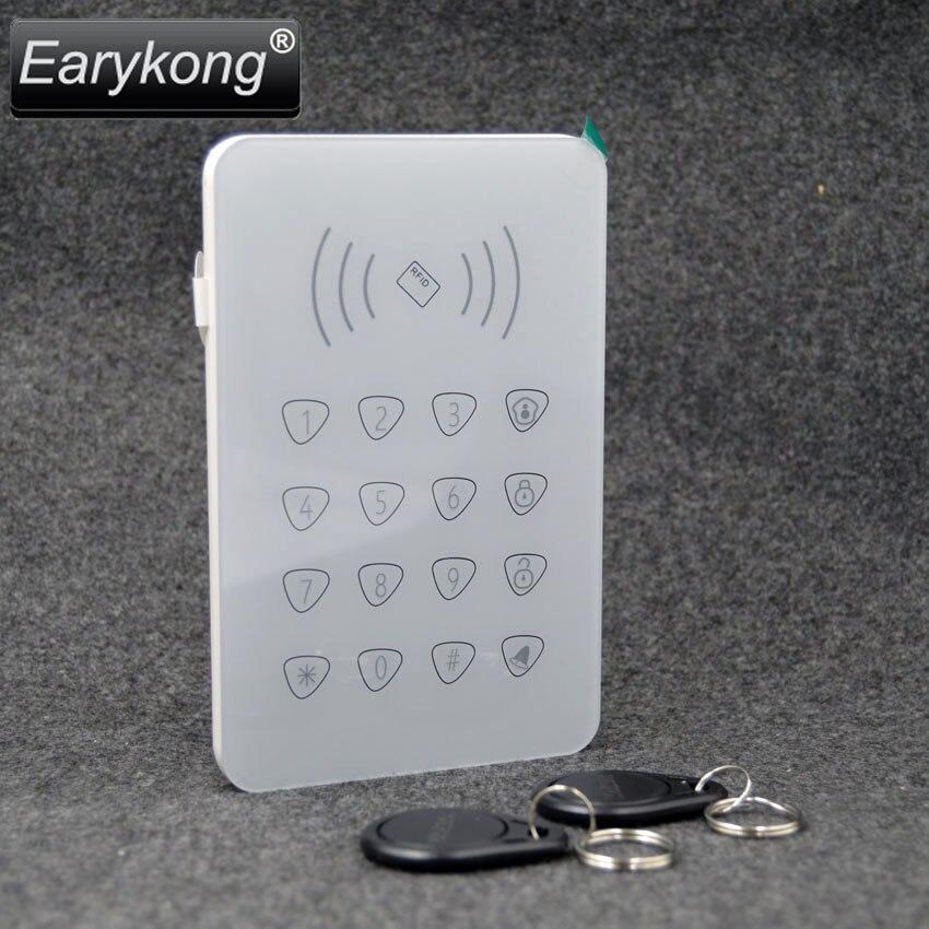imágenes para 2017 Envío Libre 433 MHz Teclado Táctil Inalámbrico con 2 unids Tarjeta de Etiquetas RFID de Lectura Sólo Para G90B Wifi GSM Alarma sistema