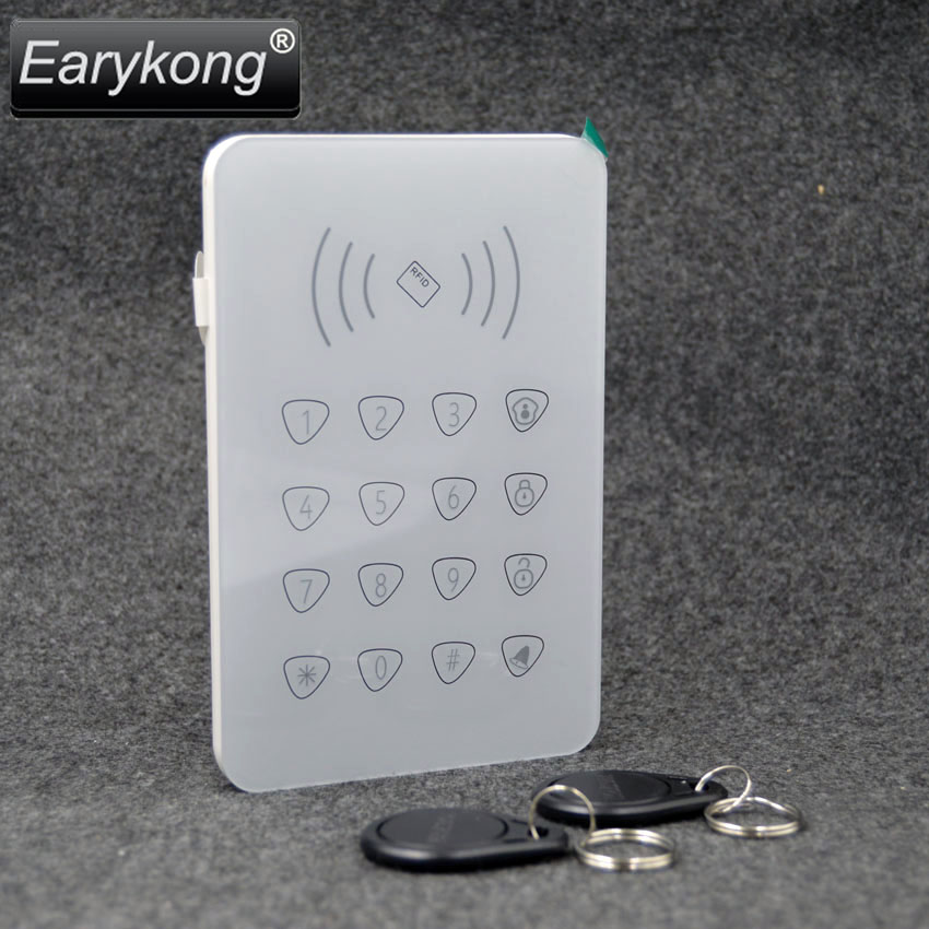 2017 Free Shipping 433MHz Wireless Touchscreen Keyboard with 2 pcs RFID Tags Reading Card Only For G90B Wifi GSM Alarm System 1pcs free shipping sc3075b touchscreen