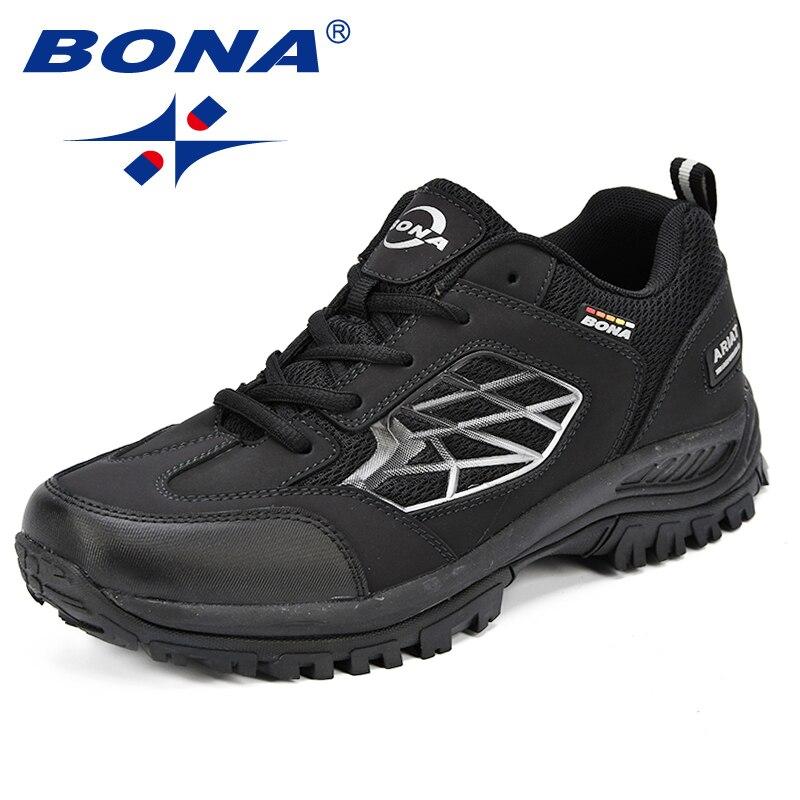 BONA nouveaux classiques Style hommes chaussures de randonnée Action en cuir hommes chaussures de Sport en plein air Jogging chaussures confortable rapide livraison gratuite - 2