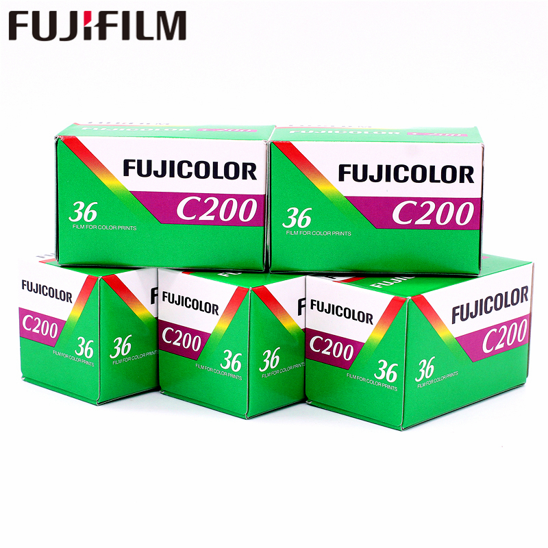 5 Rolls  Fujifilm Fujicolor C200 Color 35mm Film 36 Exposure For 135 Format Holga 135 BC Lomo