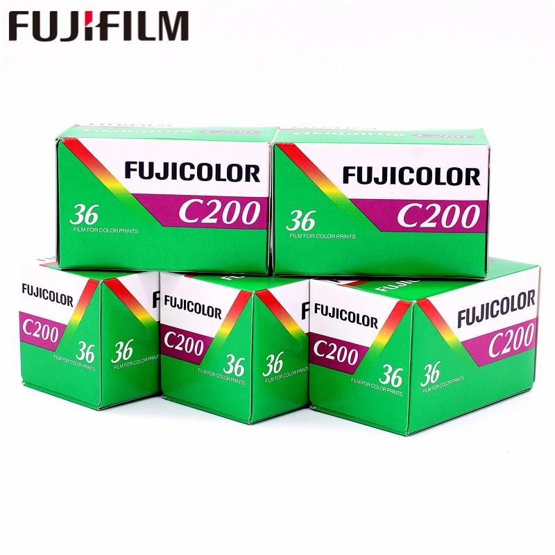 5 rouleaux Fujifilm Fujicolor C200 couleur 35mm Film 36 exposition pour 135 Format Holga 135 BC Lomo