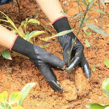 New 1 Pair Garden Gloves with 8 Fingertips Claws Raking Digging Planting Latex Work Tools Household Greenhouse Products