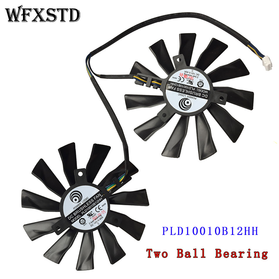 New Video Fan PLD10010B12HH For MSI R9-290X R9- 280X R9-270X R7-260X GAMING 12V 0.40A 95mm Laptop Cooler Radiators Cooling Fan computador cooling fan replacement for msi twin frozr ii r7770 hd 7770 n460 n560 gtx graphics video card fans pld08010s12hh
