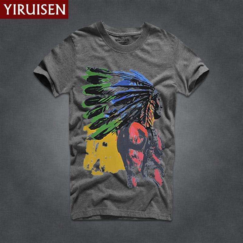 Мужские футболки, модные, YiRuiSen, брендовая мужская футболка с коротким рукавом, мужская повседневная футболка из хлопка, топы, Camisetas Hombre Camisa - Цвет: 6823