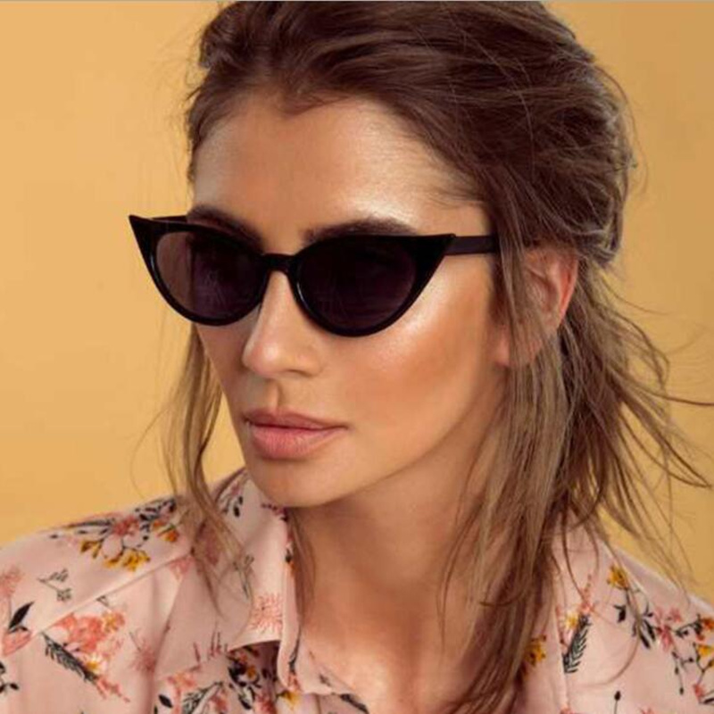 REALSTAR Luxury Fashion Sexy Cat Eye Sunglasses Women Brand Designer Female Sun Glasses 2018 Vintage Eyewear Oculos Shades S504