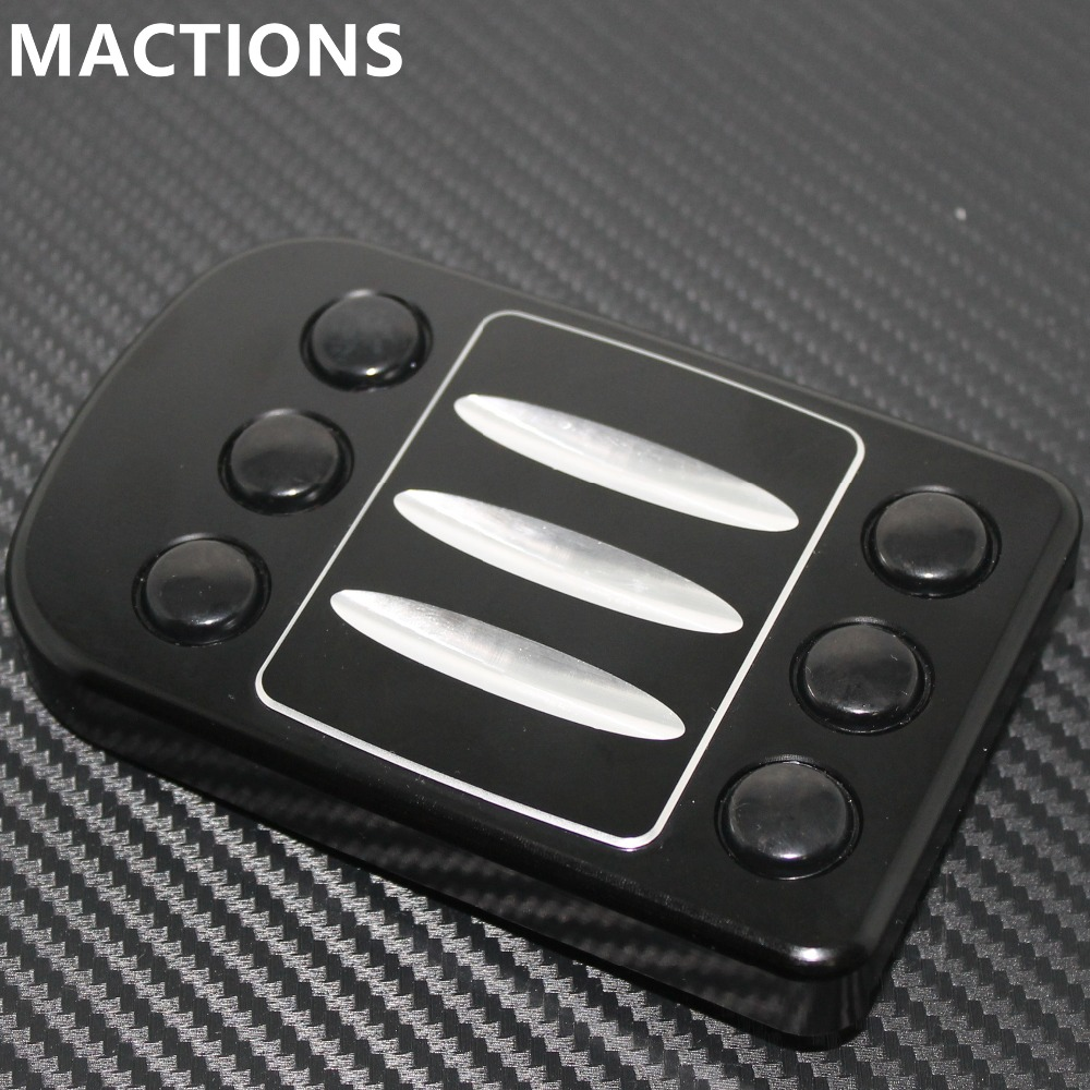 Motorcycle Black Parts Brake Pedal Cover Touring Glides Of Tailed A Cut Large Parts For Harley