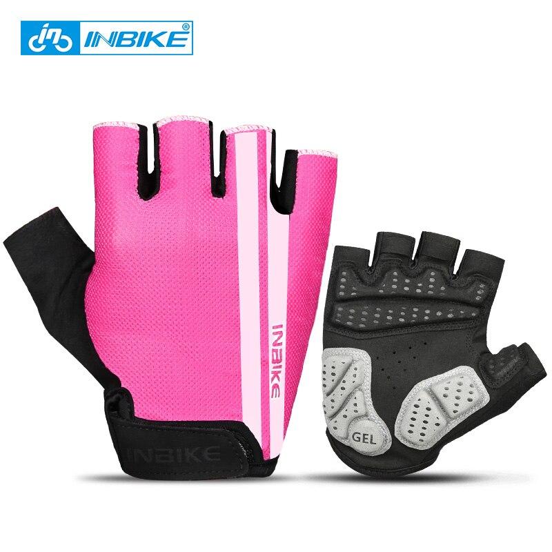 INBIKE велосипедные перчатки половину палец Нескользящие гель площадку дышащий мотоциклетные MTB дорожный велосипед перчатки Для мужчин Для ж...