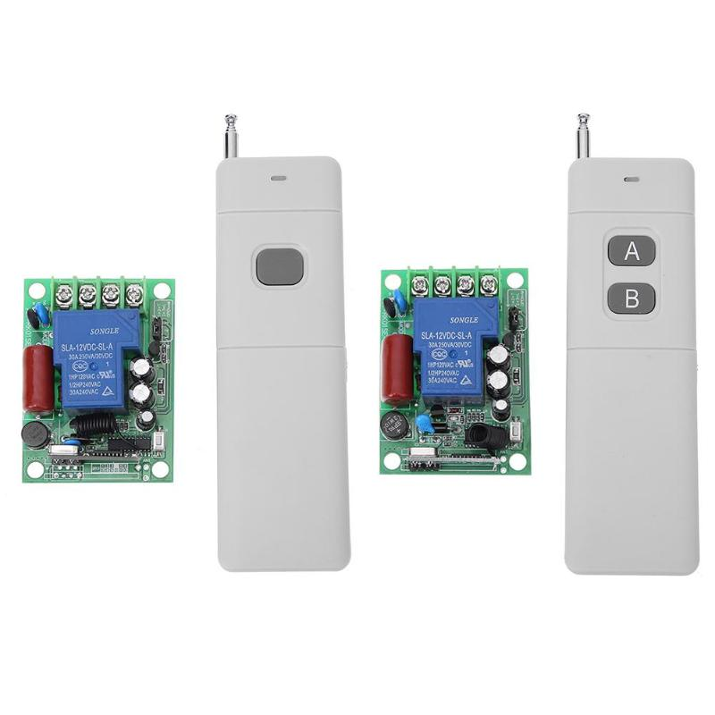 AC 220V 1CH RF 433MHz 1000 Meters Distance Wireless Remote Control Switch Module Learning Code цена