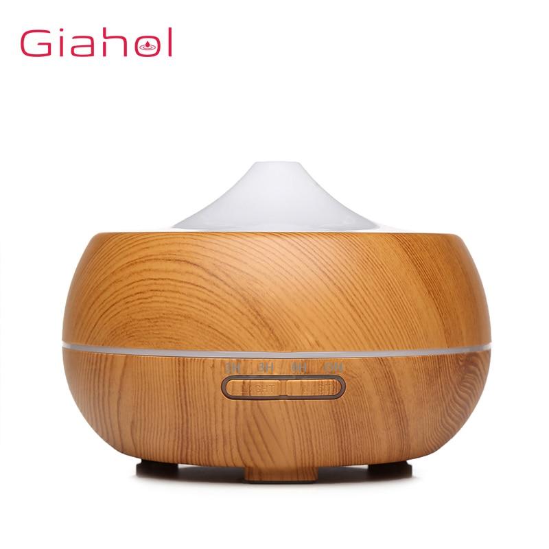 300ml Aroma Umidificador de Ar Umidificador De Ar Ultra-sônica de Grão de Madeira Elétrica Tratamento de Óleo Essencial Aroma Difusor Para Home Office