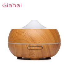 300ml Aroma Air Humidifier Wood Grain Electric Air Humidifier Ultrasonic Essential Oil Diffuser For Office Home Aroma Treatment 300ml air humidifier ultrasonic usb aroma essential oil diffuser built in aroma tablets for car office home air purifier