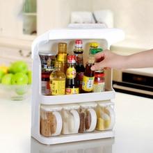 Для хранения пластиковых полка Стеллаж для хранения специи приправа стойки французский Высокое качество кухонные принадлежности