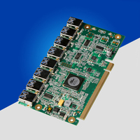 NEW Aad In Card PCIe 1 To 8 PCI Express 16X Slots Riser Card PCI E