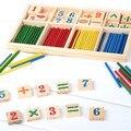 Монтессори Деревянные Количество Math Game Палочки Образования Игрушки Puzzle Учебных Пособий Set Материалы ин