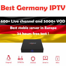 GOTIT Best Germany IPTV 1 year Europe IPTV 6000+Live and 5000+VOD Support Android m3u enigma2 mag250 TVIP with Adult French IPTV(China)