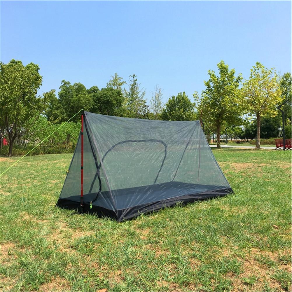 Tente de Camping en forme de A Portable sans poteau moustiquaire totale tente en filet Ultra légère équipement de plein air fournitures de Camping