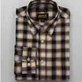 2017 Spring and Autumn Fashion 100% cotton plaid shirt men  long-sleeved large size Slim fit casual  shirt non-iron thin shirt m