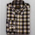 2017 la Primavera y el Otoño de Moda 100% algodón camisa a cuadros de los hombres de manga larga de gran tamaño Slim fit camisa casual no necesita plancha camisa delgada m