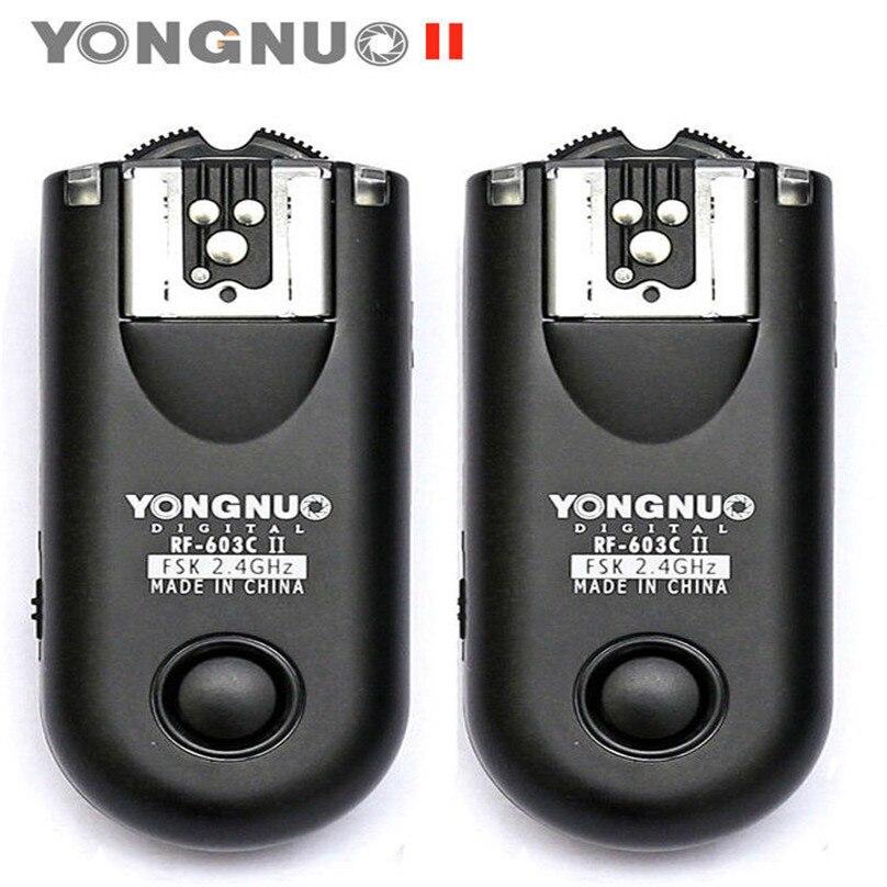 Yongnuo RF-603 II Radio Wireless Remote Flash Trigger C1/ C3 for Canon 1100D 1000D 700D 650D 600D 550D 500D 450D 400D 350D 300D fsk 2 4ghz wireless flash trigger for canon dslr eos 30 33 300 300d 400d 450d 350d 2xaaa 2xaaa