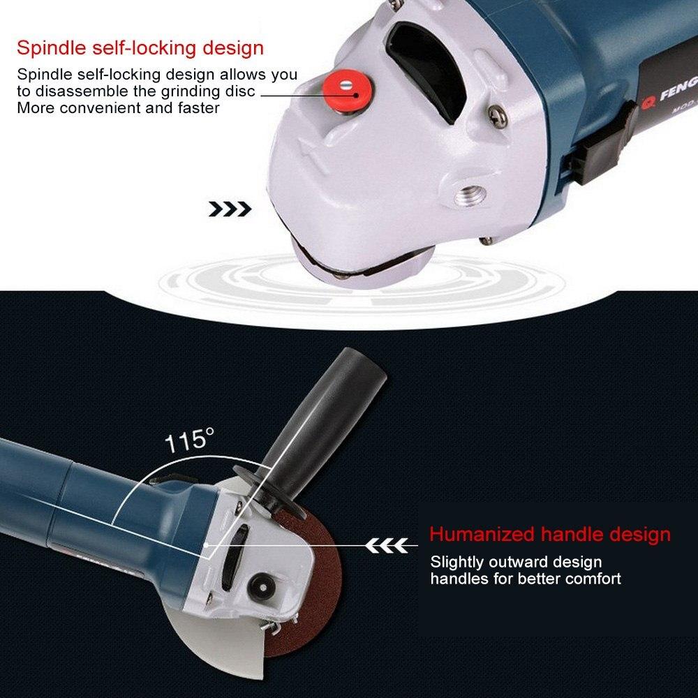 220V Elektrische Variabler Geschwindigkeit Winkel Grinder Geschwindigkeit Regulierung Grinder Maschine Winkel Schneiden Schleifen Metall Holz Power Tool