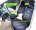 (Front +Rear) Universal Car Seat Cover For Lada 10 Priora Granta Kalina Niva Largus Car-Covers 3D Silk Material+Free Shipping