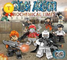 Lastest military minifigures special forces Ghost action Biochemical times 8in2 Hummer car building block compatible with legoes