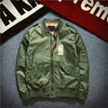 2016 New Mens Bomber Jacket Air Force Pilot Jacket Vintage Windbreaker for Couples Army Green Black Z1326
