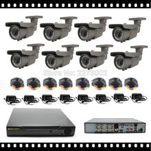 HKES Home Security System Outdoor AHD Camera with 1080P AHD DVR 8CH CCTV Kits