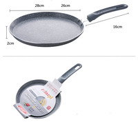 24CM 8 Inch Smoke Free Ceramic Stone Layer Fry Pan Non Stick Skillet Omelet Pan Al