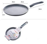 18cm 22cm 26CM 10 inch Smoke free Ceramic stone layer Fry Pan Non Stick Skillet Omelet Pan Al Mn alloy Bottom Cooking Pan