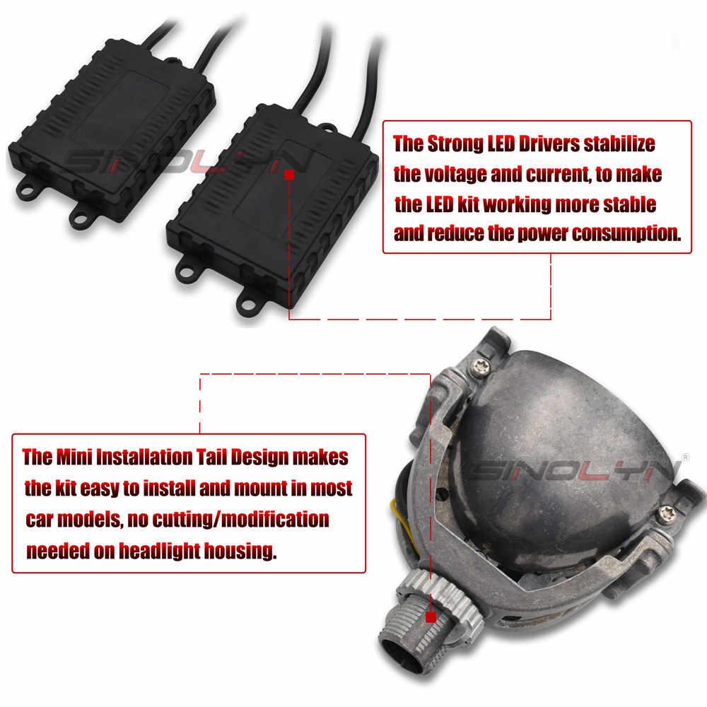Bi-LED Lenses In Headlights H7 H4 H1 9005 9006 HB3 HB4 Lamp Lights Car Lens Angel Eyes Halo Projector Kit Accessories Retrofit
