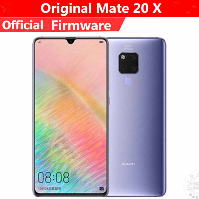 "DHL Fast Delivery HuaWei Mate 20X4G LTE โทรศัพท์มือถือ Kirin 980 Android 9.0 7.2 ""2240x1080 8GB RAM 256GB ROM 40.0MP NFC IP53"