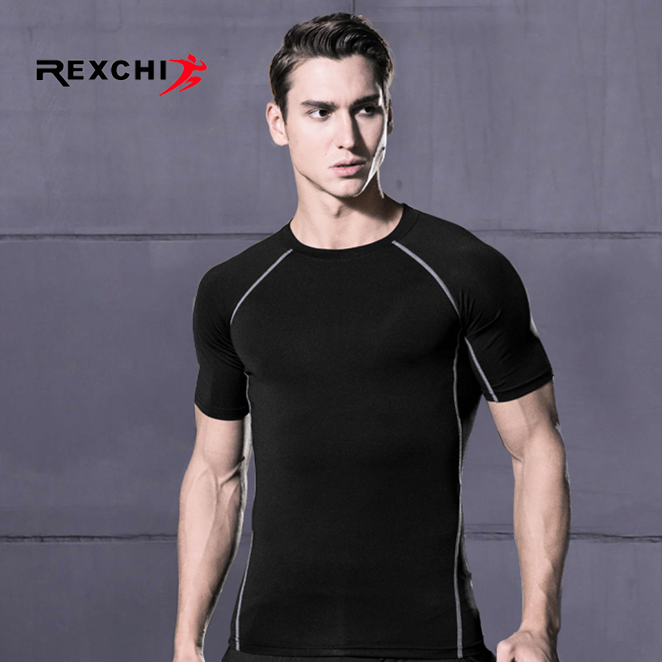 Men Sports Quick Drying T Shirt Compression Underwear Outdoor Running Jogging Clothes Gym Fitness Training Workout Tight Costume