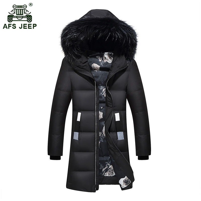 Winter Warm Hooded Men Down Jackets Casual X-Long Duck Down Coats Thicken Outwear Casual Solid Parkas Plus Size M-4XL xia300wy