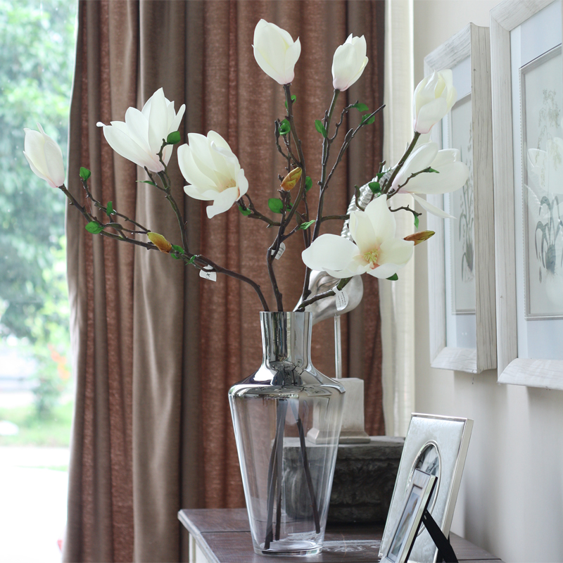 Wanyu kapok simulation flowers long sticks new chinese silk flower wanyu kapok simulation flowers long sticks new chinese silk flower magnolia flower arrangement in artificial dried flowers from home garden on mightylinksfo
