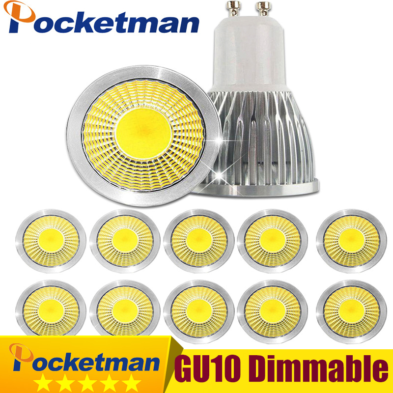 Gu10 Led Dimmable Led Spotlight Bulb Light 15W 10W 7W Gu10 Led Cob Spot Light Lamp Gu10 Led Bulb AC85-265v Lampada 680lm mr16 7w cob warm white led spot bulb energy saving light 85 265v