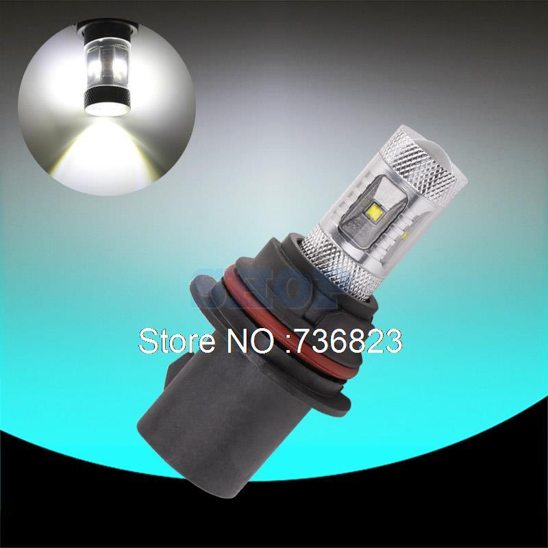 9007 HB5 30W Cree Led Chips car lights Xenon White XBD-R3 Lens Vehicles Signal LED Car Fog Light Daytime Running Bulb parking car motorcycle spotlight 12v 30w cree u3 inside led projector with bracket bigger lens lights 6500k ip68 daytime light c115c