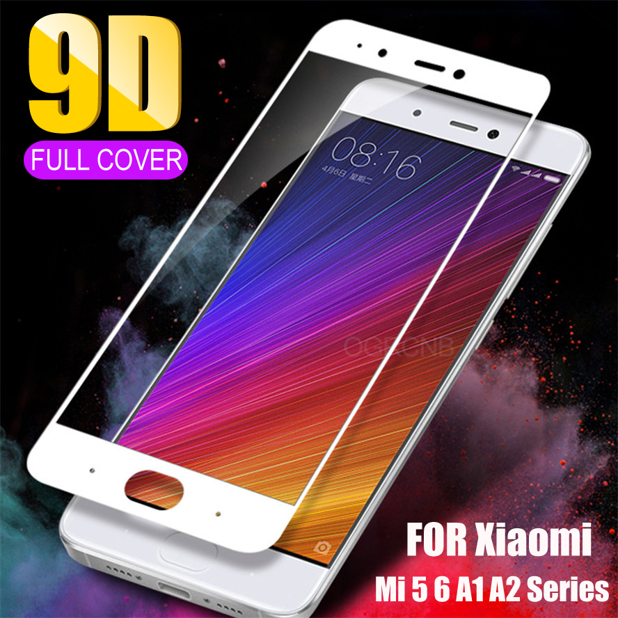 Protective Glass For Xiaomi Mi 6 6X Mi 5 5S 5C 5X 5S Plus Tempered Screen Protector For Mi A1 A2 Note 3 Max 2 3 Full Cover Glass