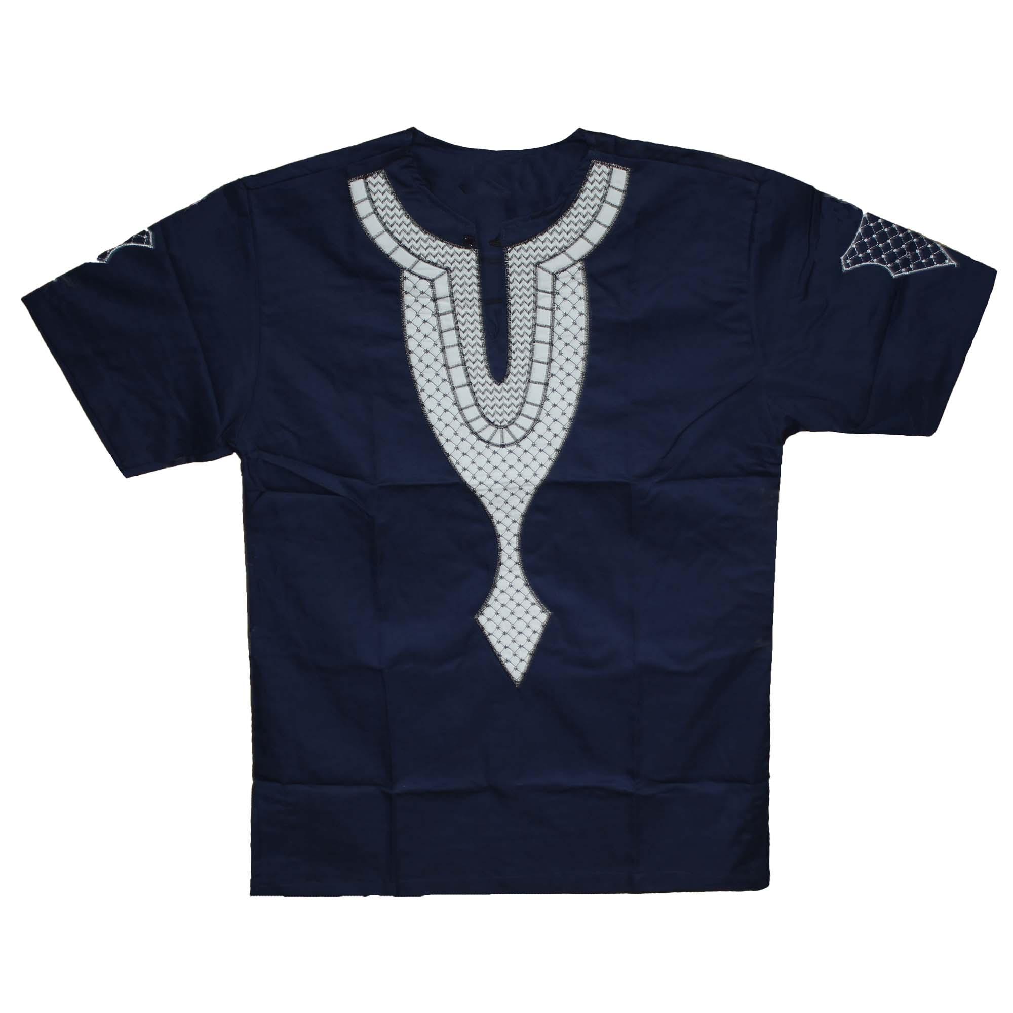 Camiseta Africa Clothes Men`s African Ethnic Embroidery Dashiki Tops Bazin Kwanzaa Dress Summer Orientar Shirts