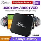 French Arabic IPTV Box 1 Year SUBTV Code 2GB 16GB S905W X96 mini Android 7.1 TV Box IPTV Europe France Netherlands Belgium Spain