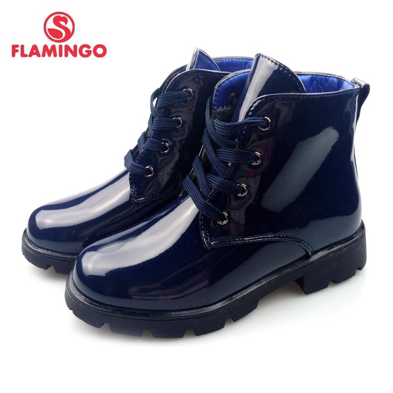 FLAMINGO autumn warm kids boots high quality Bright anti-slip kids brand shoes for girl size 28-33 free shipping 82B-XDB-0981 цена