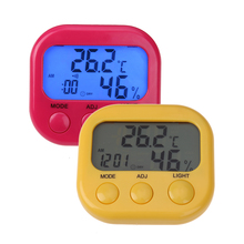 Digital Weather Station Mini Thermometer Hygrometer Indoor Outdoor Temperature Humidity Meter Night