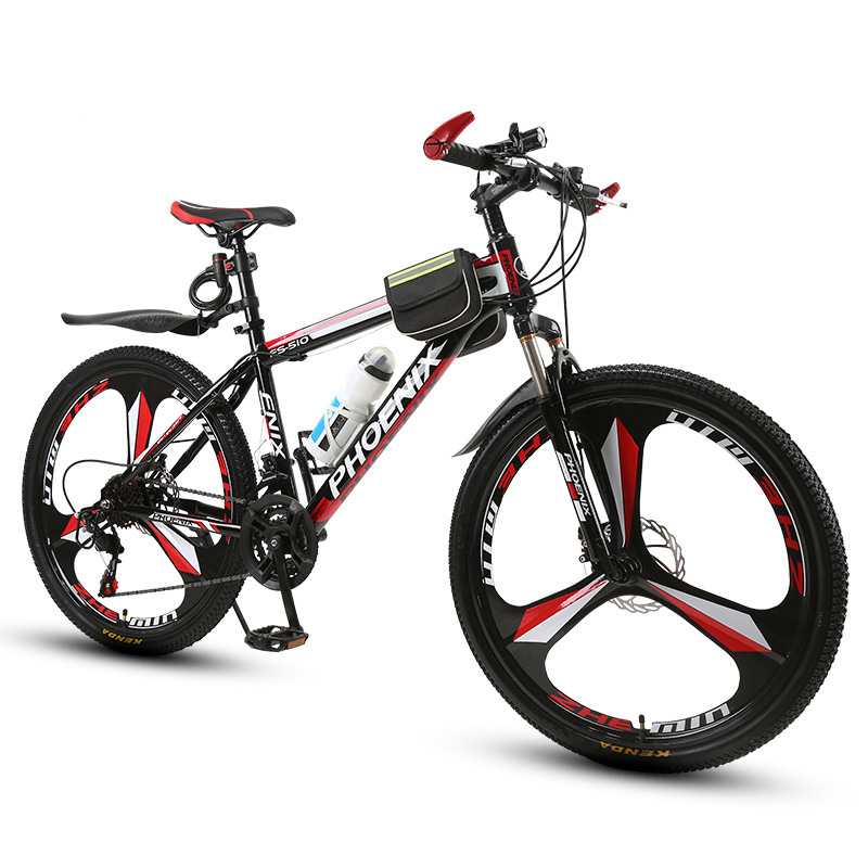 Adult Shock Absorber Mountain Bike 21/27 Speed Double Disc Brakes For Men And Women Students Off-road Bicycle