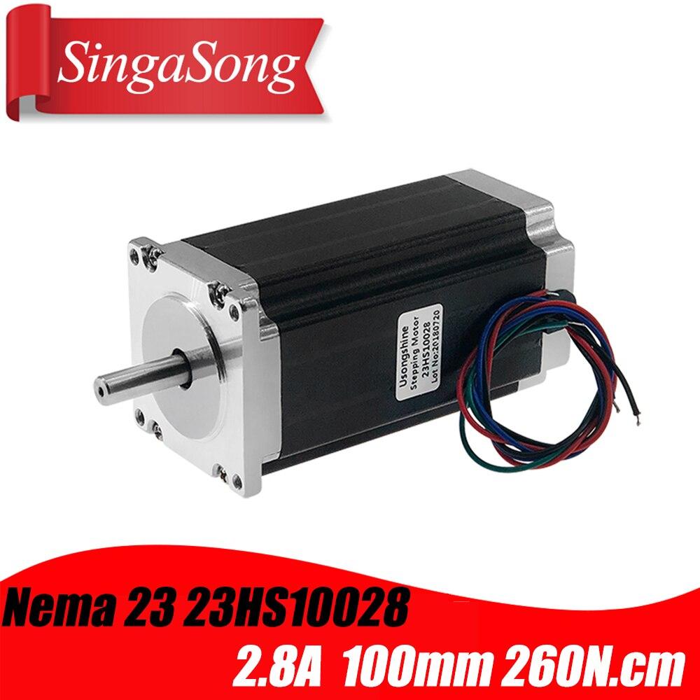1 Pcs 23HS10028 4-lead Nema 23 Stepper Motor 57 Motor NEMA23 2.8A CE ROSH ISO CNC For 3D Printer Robot Foam Plastic Metal
